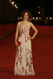 Camilla Filippi sull'Orange Carpet del Roma Fiction Fest