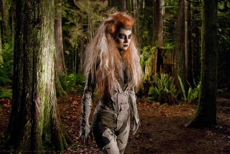 La mostruosa Silver Banshee interpretata da Odessa Rae nell'episodio Escape di Smallville