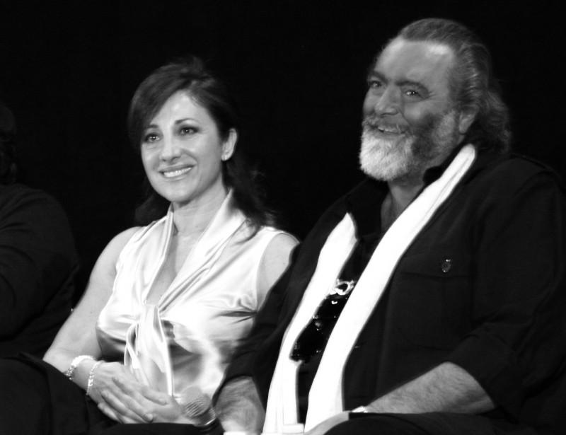 Abatantuono e la Signoris durante la presentazione di Happy Family (ph. Marilù Paguni)