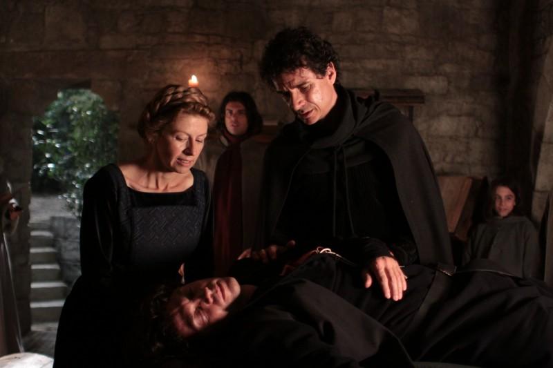 Amanda Sandrelli, Blas Roca-Rey e Alessio Boni in una scena del film Christine Cristina
