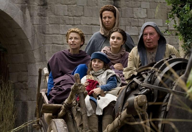 Amanda Sandrelli, Noemi e Nicholas Marzullo e Paola Tiziana Cruciani nel film Christine Cristina