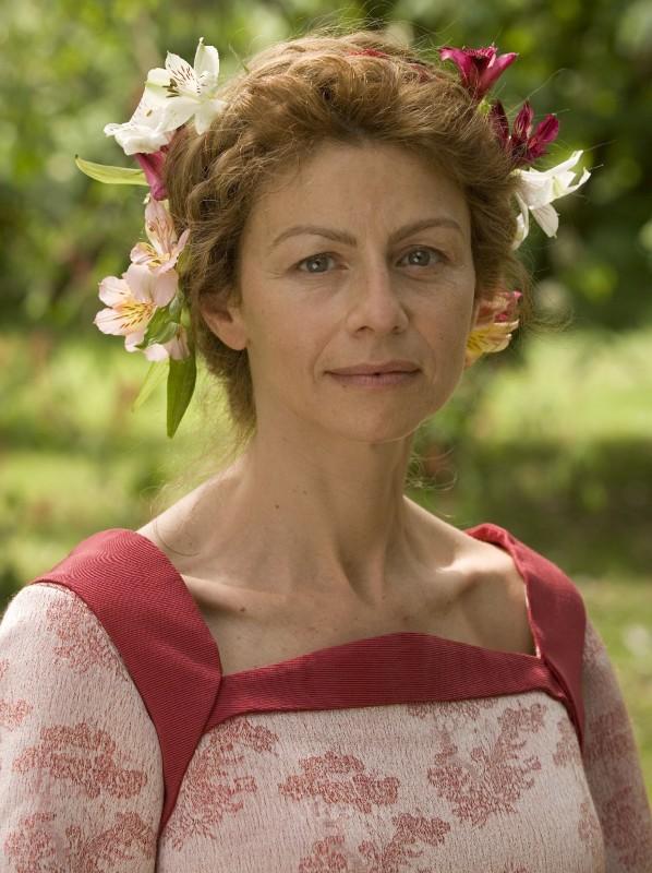 Amanda Sandrelli sul set del film Christine Cristina