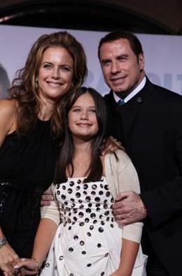 Ella Bleu Travolta, Kelly Preston e John Travolta alla Premiere internazionale del film Daddy Sitter