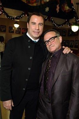 John Travolta e Robin Williams alla Premiere internazionale del film Daddy Sitter