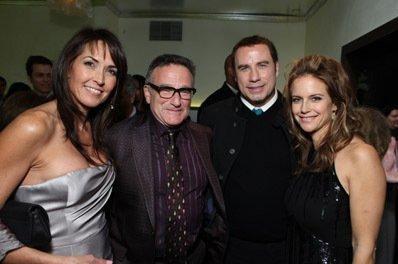 Robin Williams, John Travolta e Kelly Preston alla Premiere internazionale del film Daddy Sitter