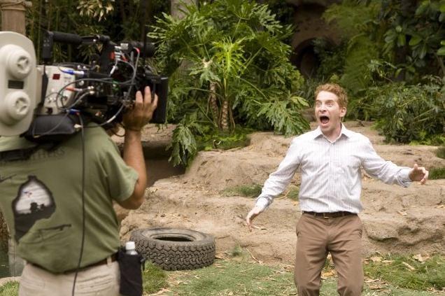 Seth Green sul set di Daddy Sitter