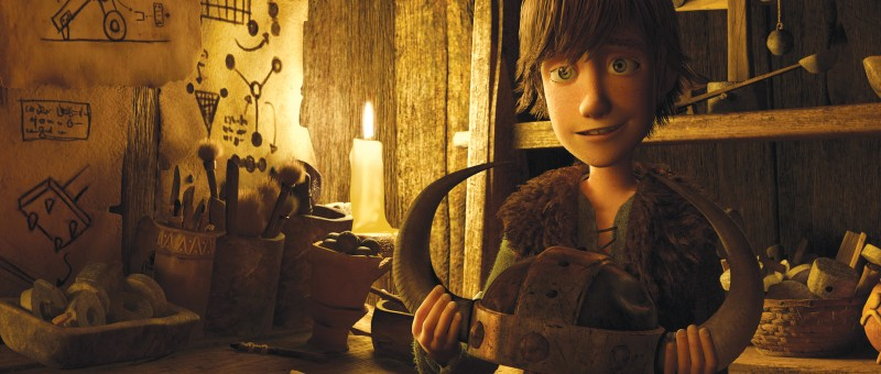 Un'immagine di Hiccup, protagonista del film Dragon Trainer