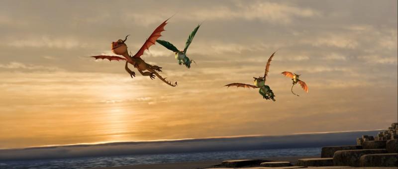 Un'immagine suggestiva dei draghetti di Dragon Trainer
