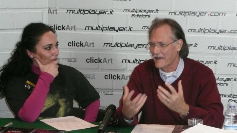 Fantasy Horror Award 2010: Brian Yuzna accanto all'intervistatrice Luciana Morelli
