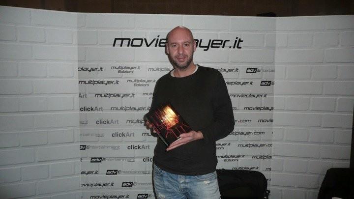 Fantasy Horror Award 2010: il regista Jaume Balaguerò davanti allo stand di Movieplayer.it