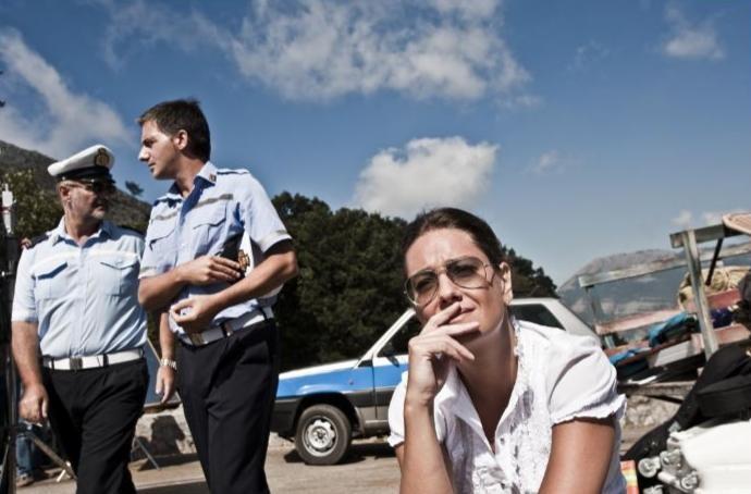 Giovanna Mezzogiorno in una scena del film Basilicata Coast to Coast