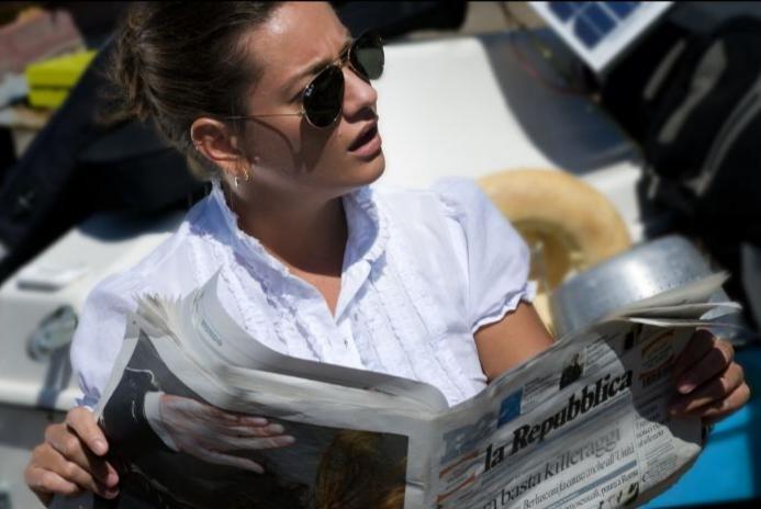 Giovanna Mezzogiorno in una sequenza del film Basilicata Coast to Coast
