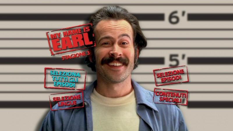 Il menù del primo disco del DVD di My name is Earl - Stagione 3
