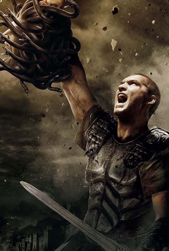 L'immagine promozionale utilizzata per il poster di Clash of the Titans 3D, con Sam Worthington