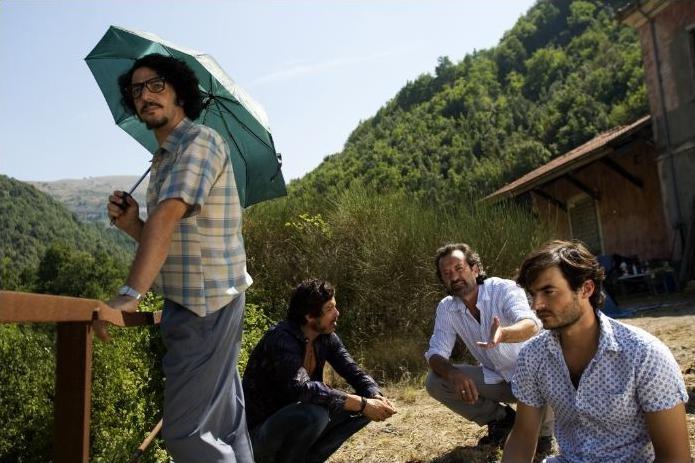 Max Gazzè, Alessandro Gassman, Rocco Papaleo e Paolo Briguglia sul set di Basilicata Coast to Coast