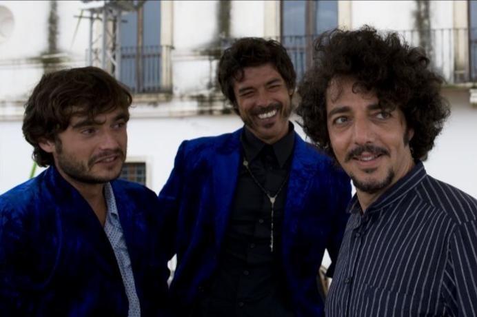 Paolo Briguglia, Alessandro Gassman e Max Gazzè nel film Basilicata Coast to Coast