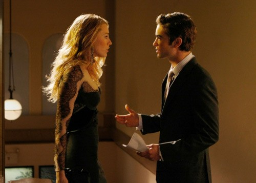 Serena (Blake Lively) discute con Nate (Chace Crawford) nell'episodio The Sixteen Year Old Virgin