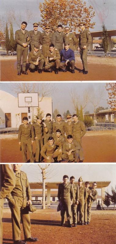 Tre immagini di Pino Donaggio durante il servizio militare. (per gentile concessione di Pierumberto Testa)