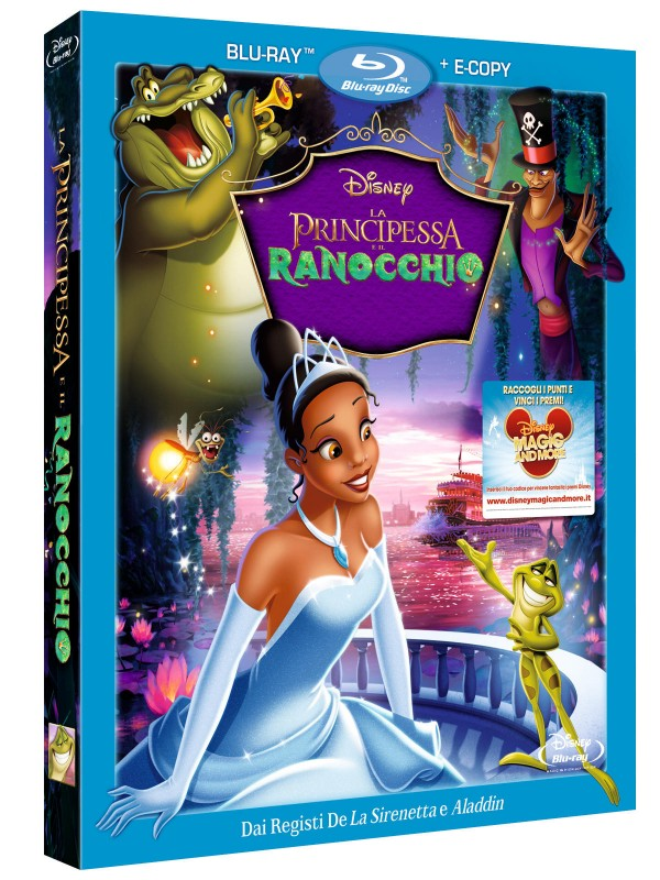 La copertina di La principessa e il ranocchio (blu-ray)