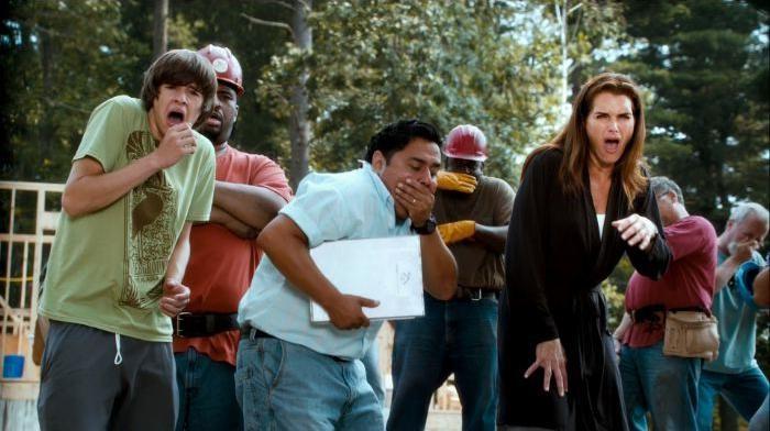 Matt Prokop, Ricky Garcia e Brooke Shields in un'immagine di Puzzole alla riscossa