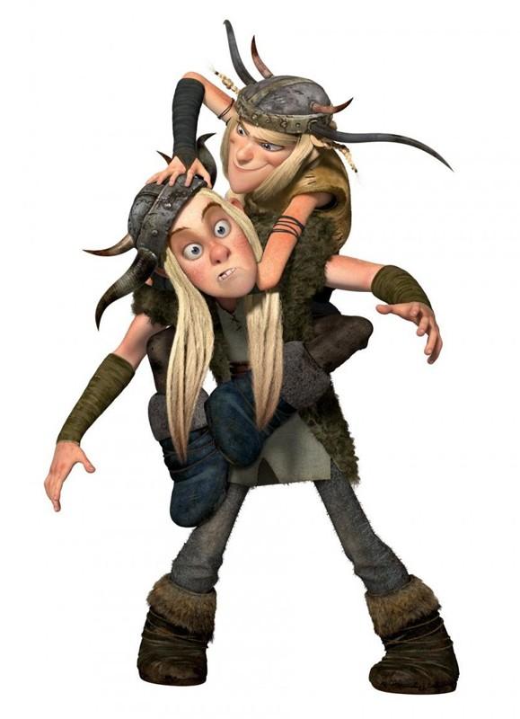 Un'immagine promo di Tuffnut e Ruffnut per il film Dragon Trainer