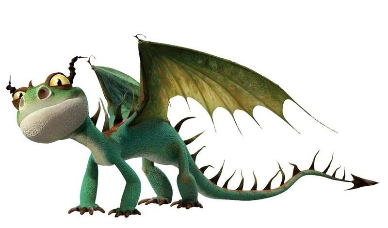 Un'immagine promozionale del drago Terrible Terror / Terribile Terrore per il film Dragon Trainer