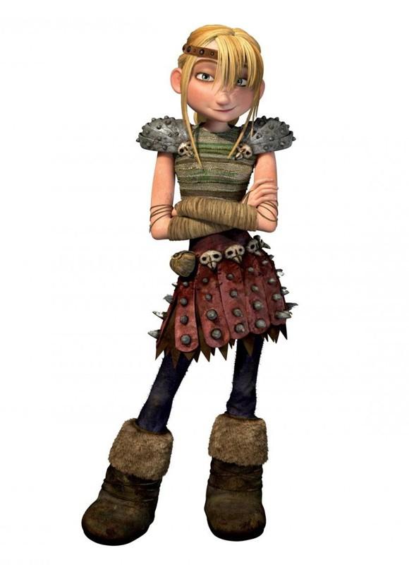 Un'immagine promozionale di Astrid del film Dragon Trainer