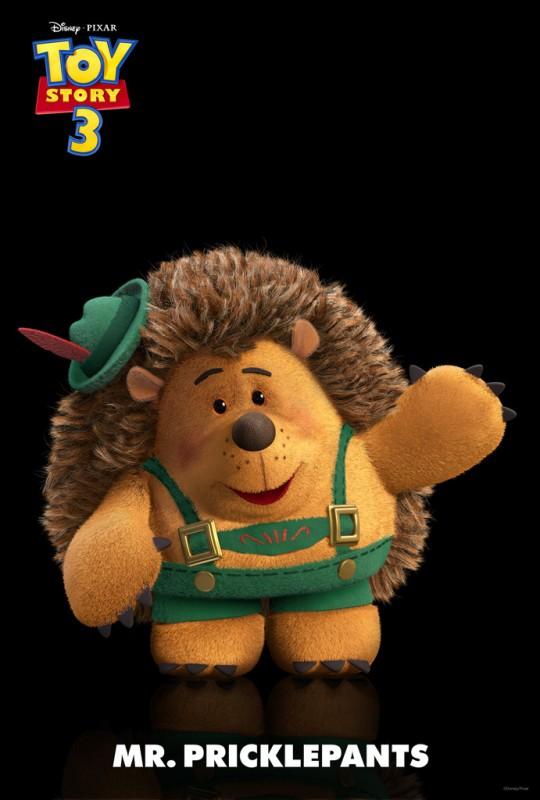Un'immagine di Mr. Princklepants, cicciottello e pelosetto riccio fatto apposta per le coccole, nuovo personaggio di Toy Story 3