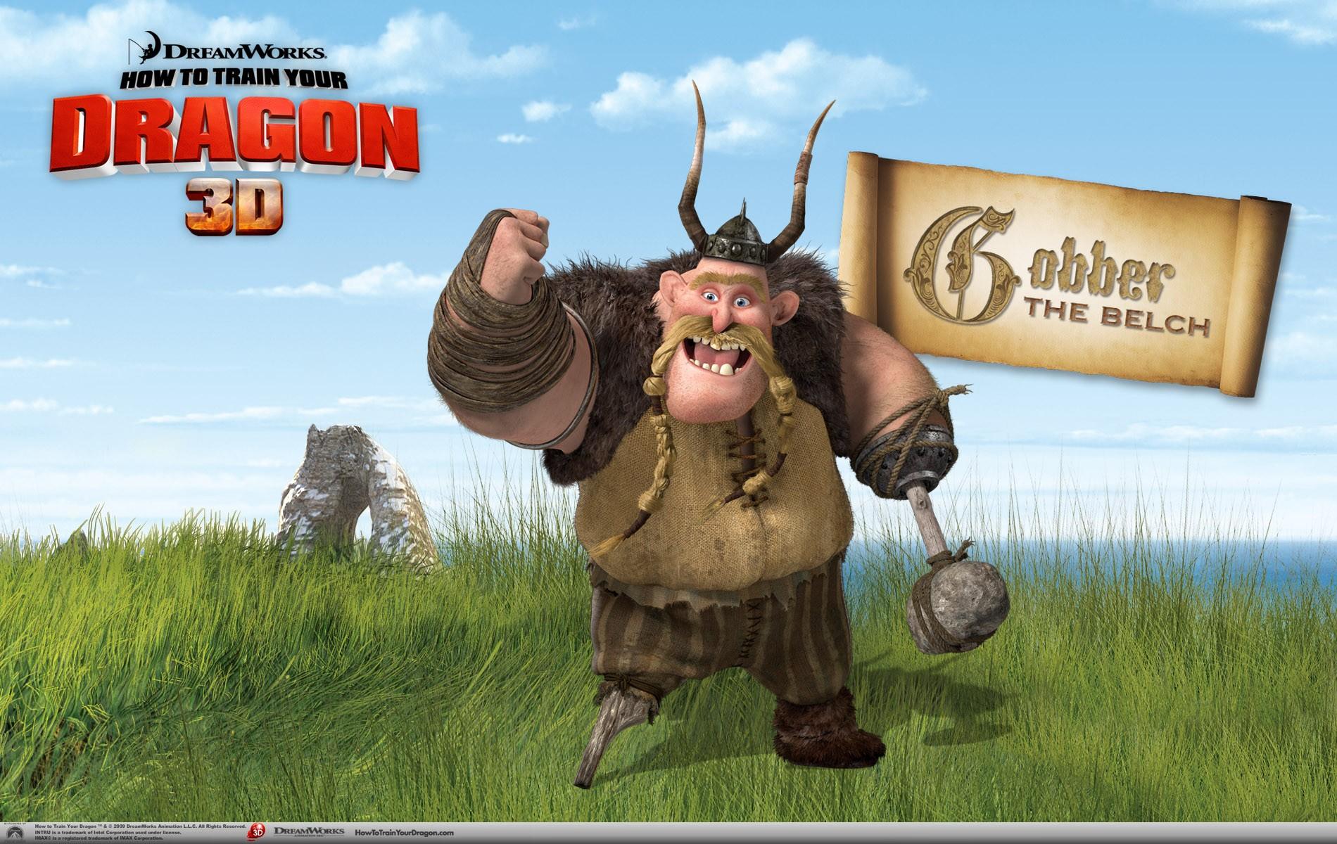 Un wallpaper ufficiale di Gobber per il film d'animazione, Dragon Trainer