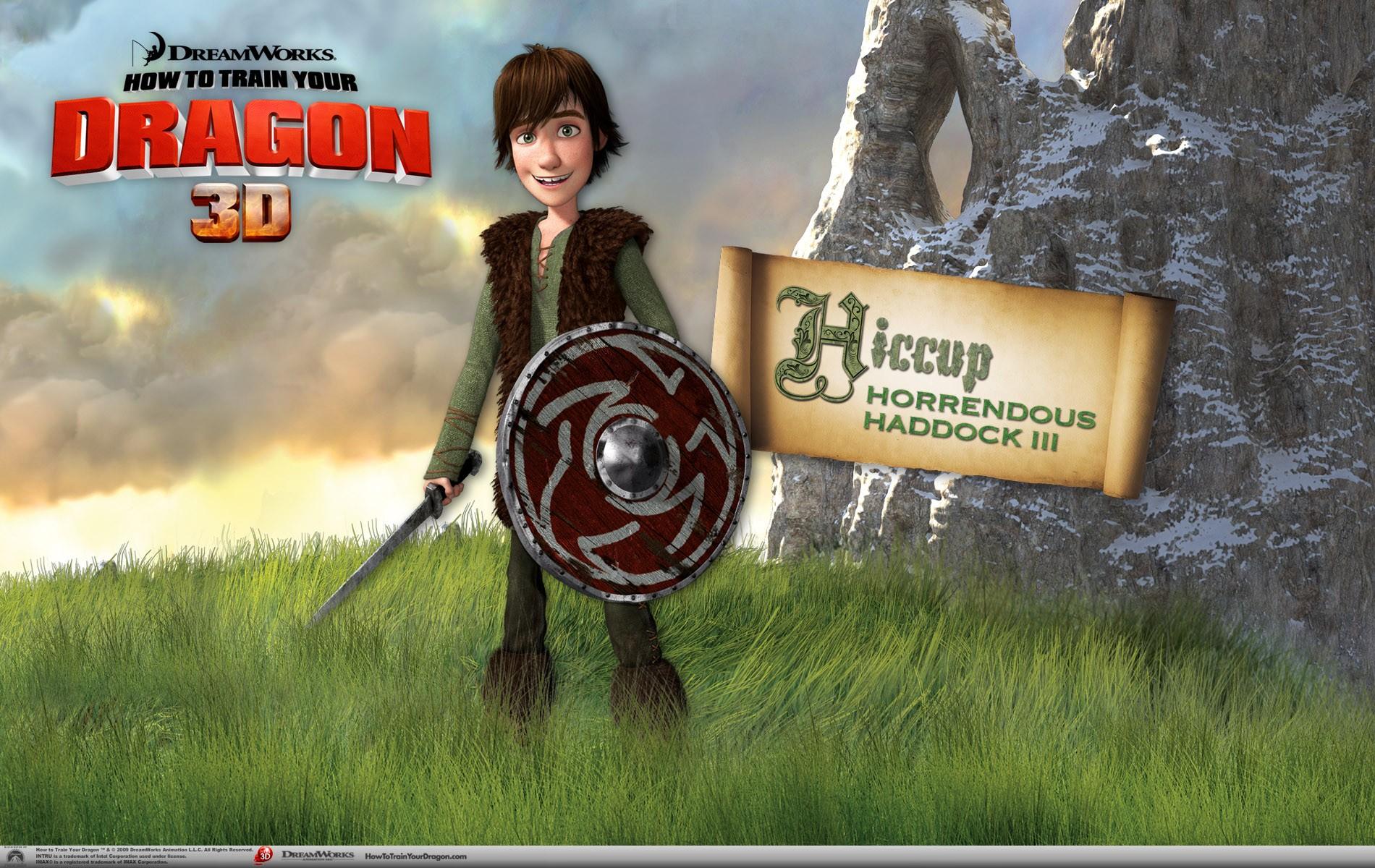 Un wallpaper ufficiale di Hiccup per il film d'animazione, Dragon Trainer