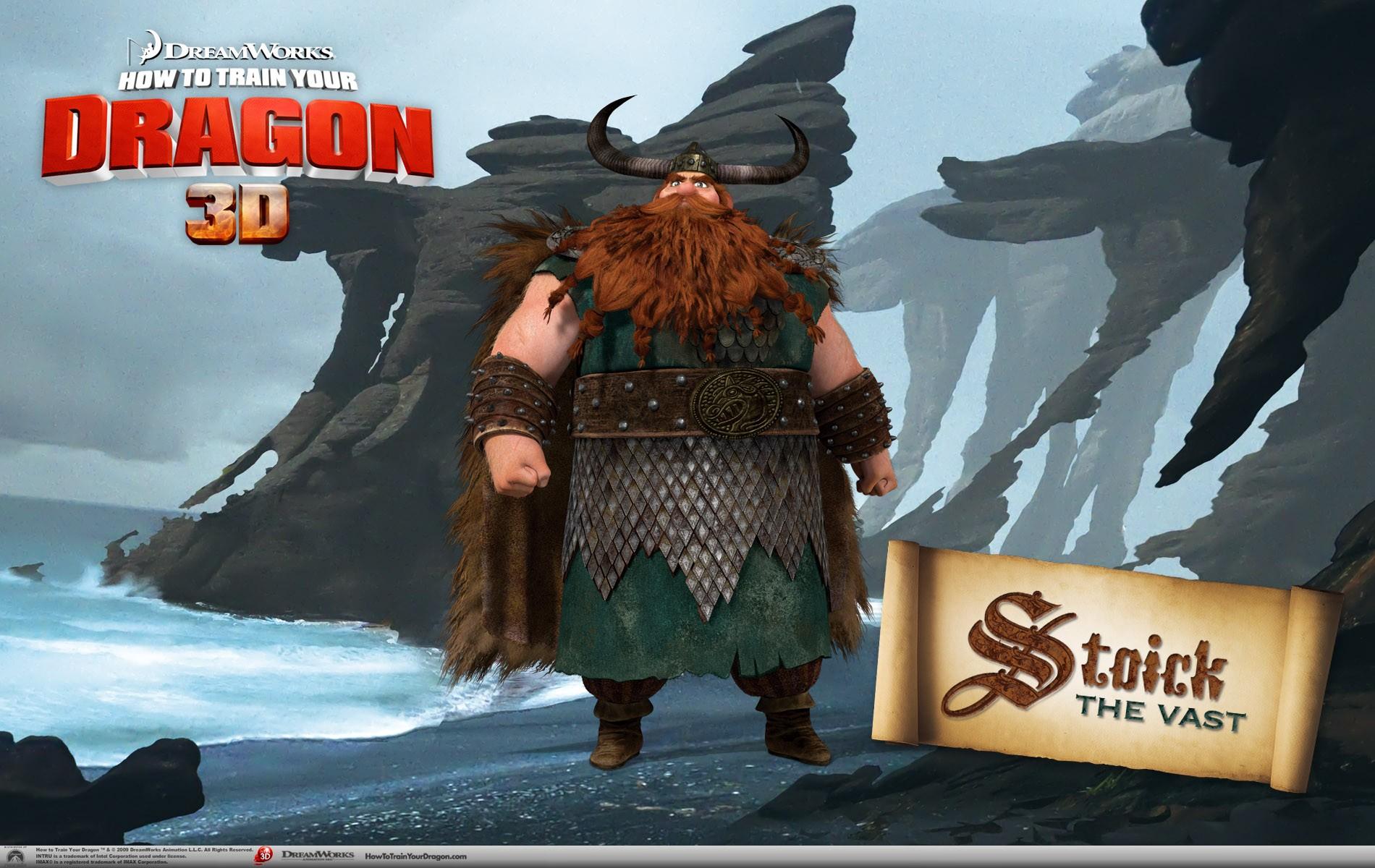 Un wallpaper ufficiale di Stoick per il film d'animazione, Dragon Trainer