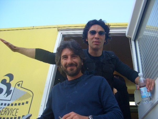Luca Lionello e Francesco Venditti sul set del film Le ultime 56 ore