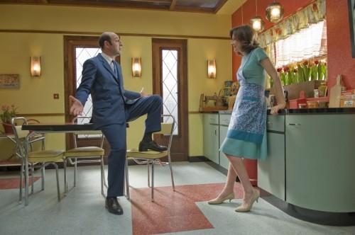 Valérie Lemercier e Kad Merad in un'immagine della commedia Il piccolo Nicolas e i suoi genitori