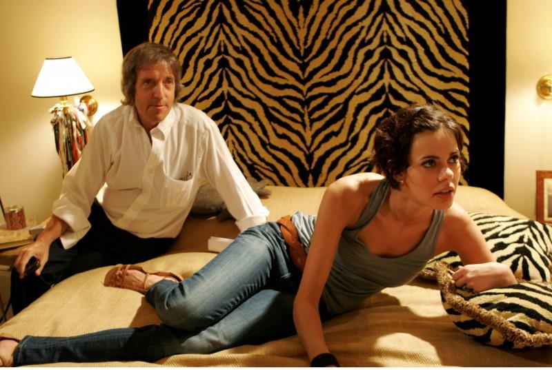 Il regista Carlo Vanzina e Virginie Marsan sul set de La vita è una cosa meravigliosa