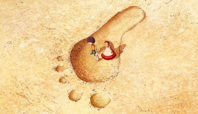 Un'immagine di Nat e Alice nel film d'animazione Nat e il segreto di Eleonora