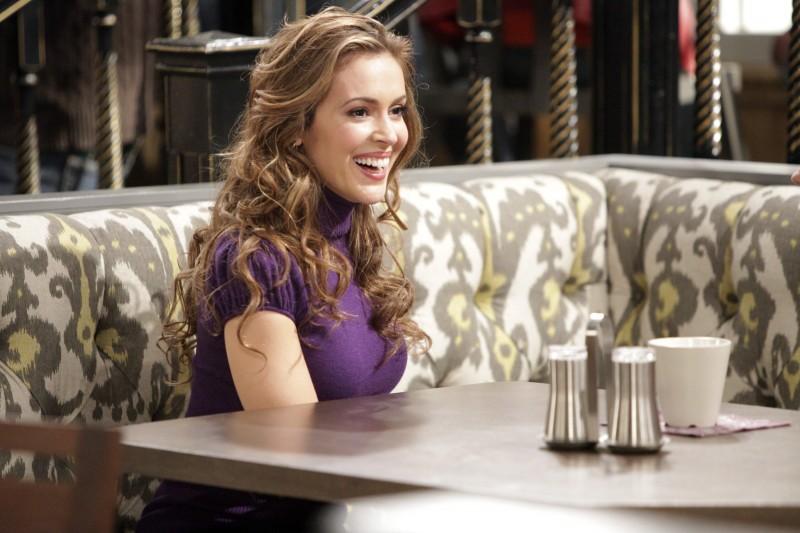 Alyssa Milano nell'episodio Rebecca's One Night Stand di Romantically Challenged