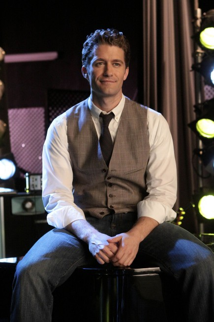 Matthew Morrison in una scena dell'episodio Hell-O di Glee