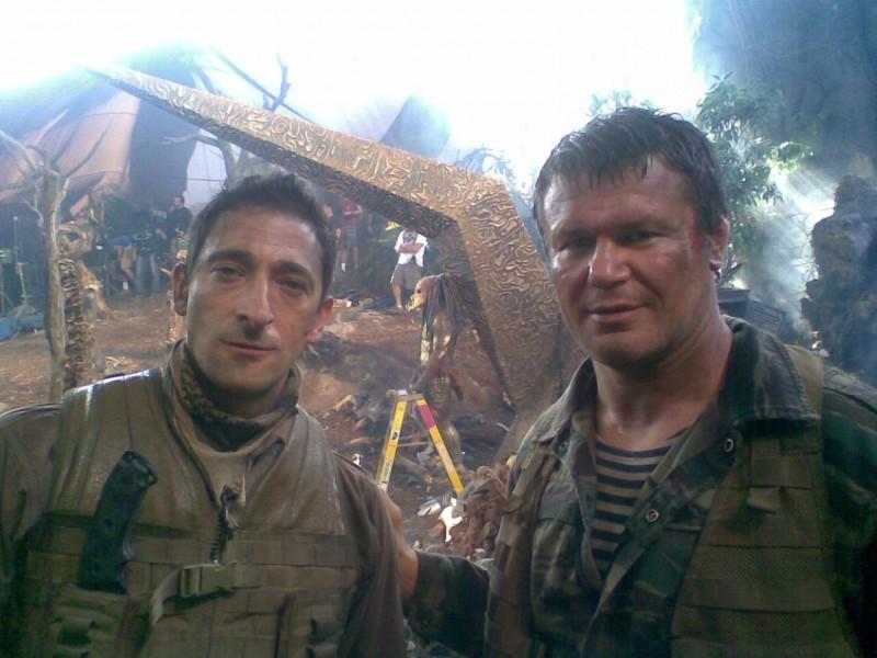 Adrien Brody sul set di Predators (2010)