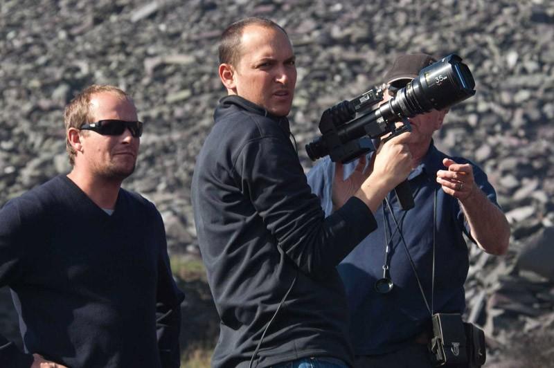 Il regista Louis Leterrier e parte della troupe, sul set del film Clash of the Titans 3D