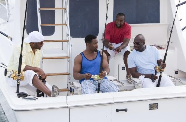 Michael Jai White, Malik Yoba, Tyler Perry e Lamman Rucker nel film Why Did I Get Married Too?