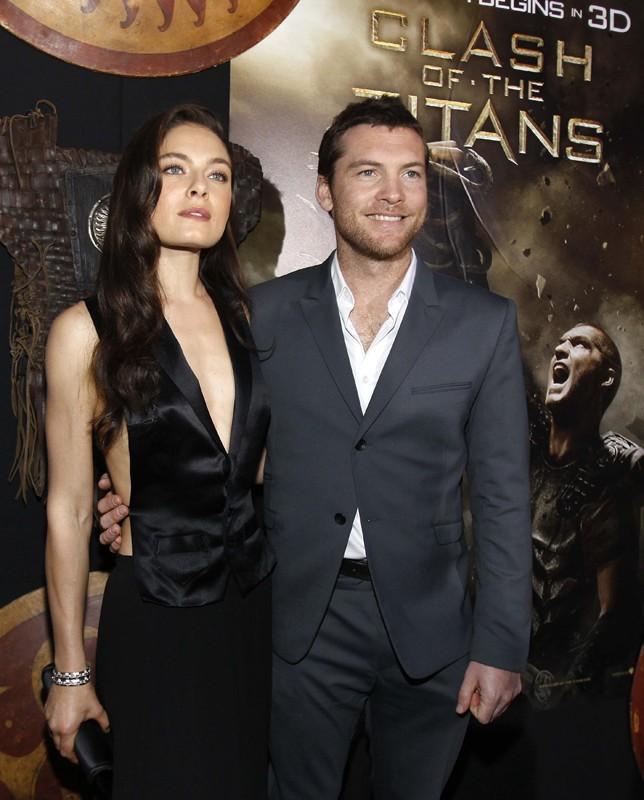 Alexa Davalos e Sam Worthington alla premiere del film Clash of the Titans, a Los Angeles, il 31 Marzo 2010