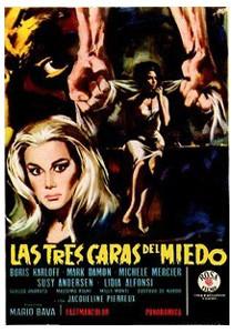 Locandina spagnola del film I tre volti della paura ( 1963 )