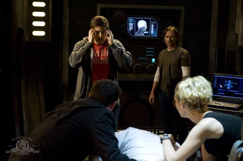 Uno scioccato David Blue per l'episodio Justice di Stargate Universe