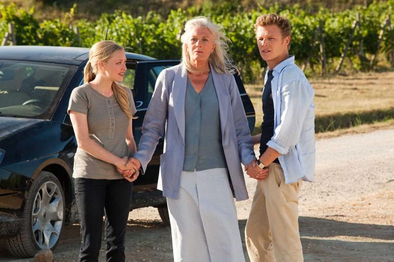 Amanda Seyfried, Vanessa Redgrave e Christopher Egan in una scena del film Letters to Juliet