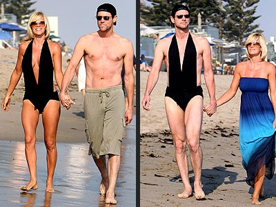 Durante la loro storia d'amore, Jim Carrey e Jenny McCarthy hanno diviso davvero tutto. Persino il costume da bagno!