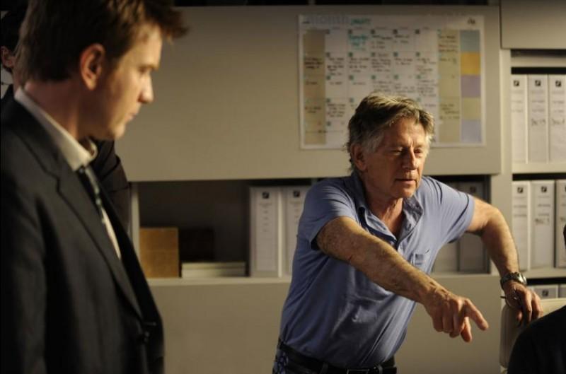 Ewan McGregor con Roman Polanski sul set del film L'uomo nell'ombra