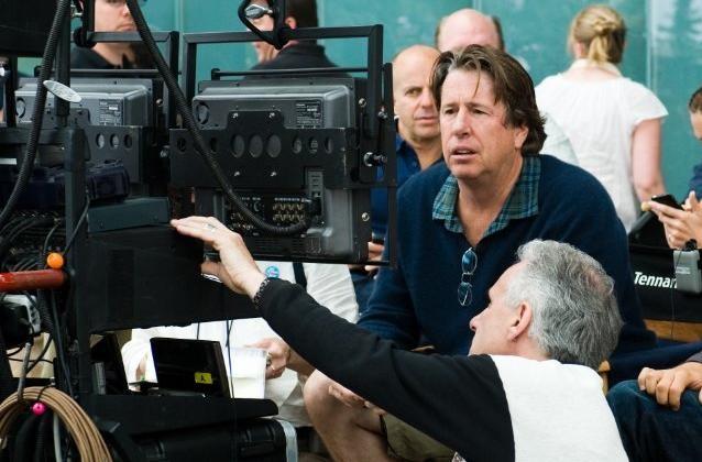 Il regista Andy Tennant sul set del film Il cacciatore di ex