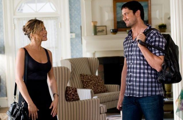 Jennifer Aniston e Gerard Butler in una scena de Il cacciatore di ex