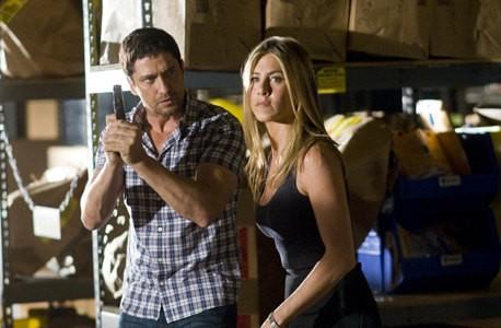 Jennifer Aniston e Gerard Butler in una scena della commedia d'azione Il cacciatore di ex