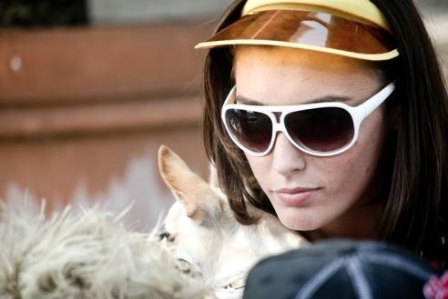 Nausicaa Benedettini in una scena del film Piazza Giochi